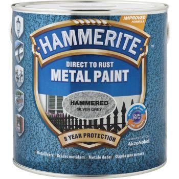 Metallivärv Hammerite Hammered, vasardatud pind, 250ml, hõbehall