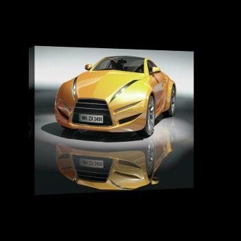 Pilt kollane auto 100x75 5901383476282