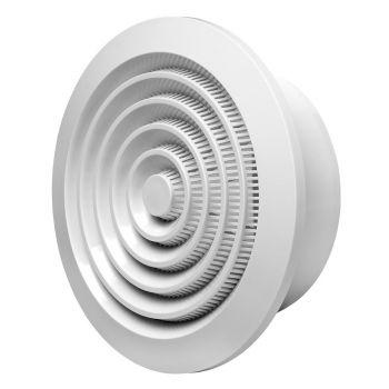 Ventilatsioonirest NGA125 Ø125mm valge