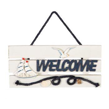 Uksesilt Welcome Beach house 24x11cm