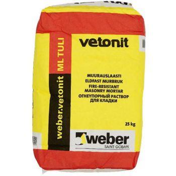 Tulekindel müürisegu Weber ML TULI 25kg