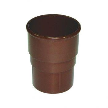 Vihmaveetoru liitmik ümar 68mm pruun