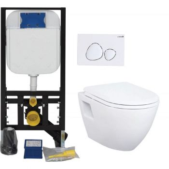 WC-pott + seinaraam Creavit GR5003 mattkroom