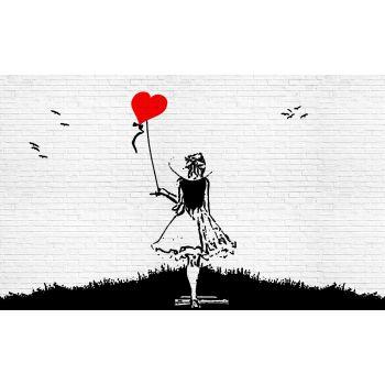 Fototapeet 1978 254x184cm tüdruk õhupalliga