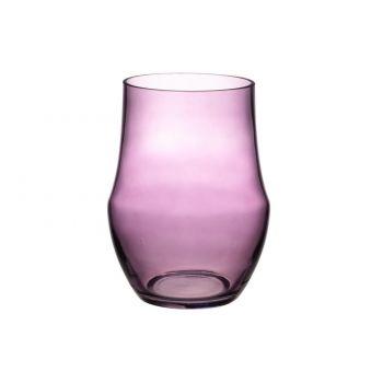 Lillevaas Romance klaasist 20cm roosa