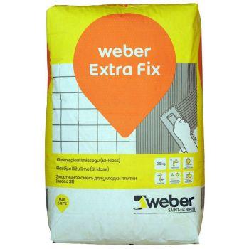 Weber Extra Fix elastne plaadisegu 25kg