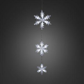 Jõuluvalgusti Lumehelbed 15LED k.valge 7318301162031