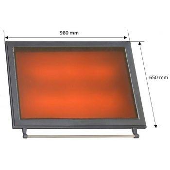 Pliidiplaat 3A 650x980mm keraamiline