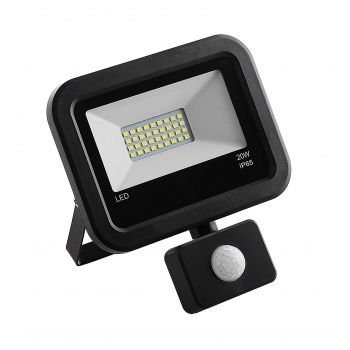 Prožektor LED 20W liikumisanduriga must