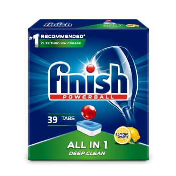 Nõudepesumasina tabletid FINISH All-in-1 Lemon, 39 tabletti