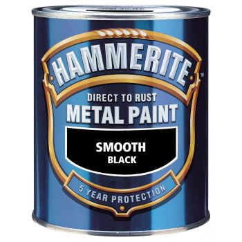 Metallivärv Hammerite Smooth, läikivsile pind, 750ml, must