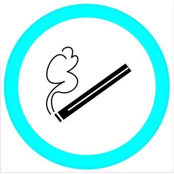 Kleebis Suitsetamise koht 20x20