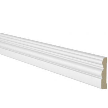Ukseliist 12x58mm 5,5m komplekt MDF valge profiil 2