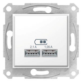 USB laadija Sedna 2,1A valge