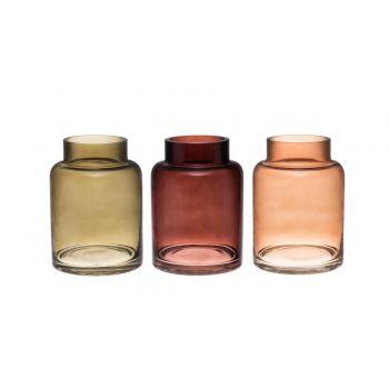 Lillevaas klaasist Carol 20cm pruun