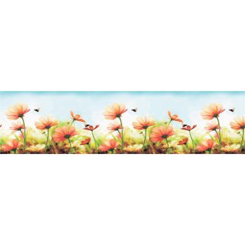 Köögitagaseina dekoratiivplaat 387 lilled ja mesilased 4680439011387