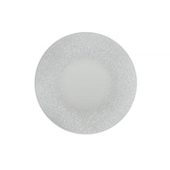 Küünlaalus peegel hõbedase sädelusega 20cm ring