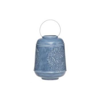 Latern Mandala metallist 33cm sinine