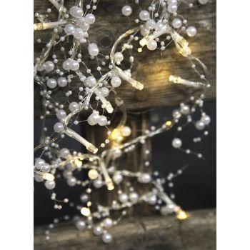 Valguskett pärlitega 20 LED, 1,15m, patareitoide 7391482726612