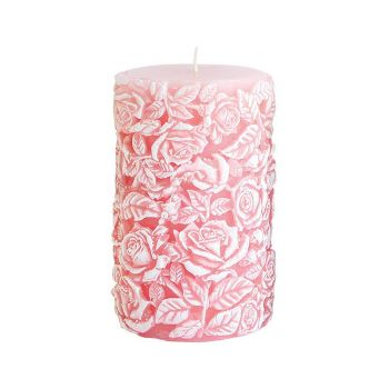 Küünal Roses 8x14cm roosa/matt 90h 5908289406672