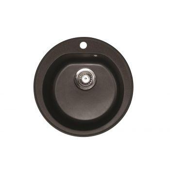 4743277021021 Köögivalamu Aqualine Venera 510 mm, grafiit/must graniit
