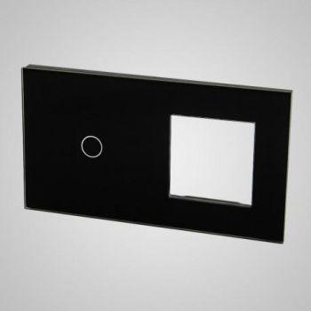 Lüliti Tenux klaaspaneel 1+raam must 47434714