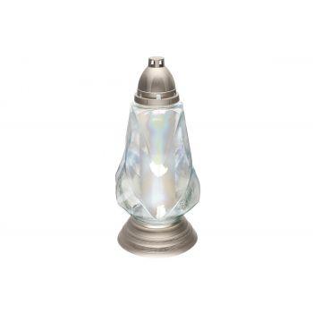 Hauaküünal kaanega 72h valge kristall pronks