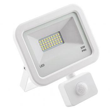 Prozektor LED 20W liikumisanduriga valge