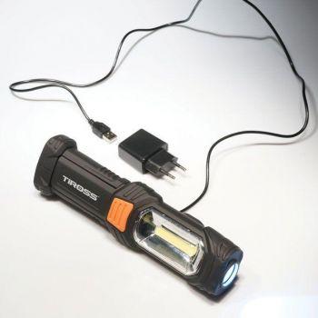 Tiross laetav valgusti Cob LED+1LED TS-1848