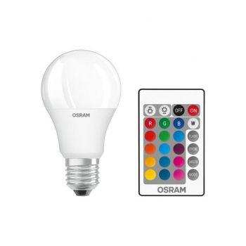 LED lamp 9W E27 RGBW + pult