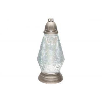 Hauaküünal kaanega 72h valge kristall