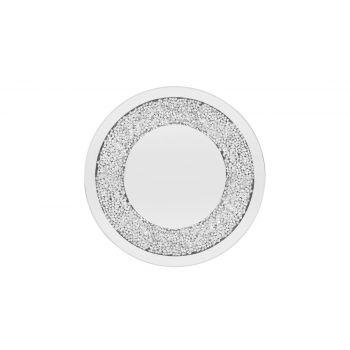 Küünlaalus peegel pärlitega 25cm
