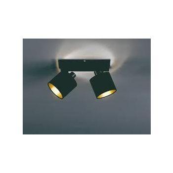 Kohtvalgusti Tommy 2-os. 2xE14 mattmust / kuld