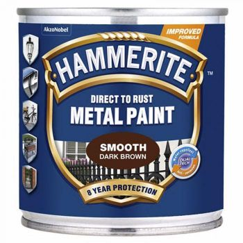 Metallivärv Hammerite Smooth, läikivsile pind, 750ml, tumepruun