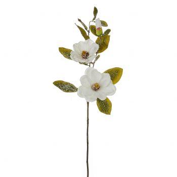 Kunstlill Magnoolia valge härmas 64cm