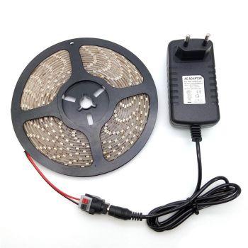 Led riba 5m + adapter IP65 3858890440591