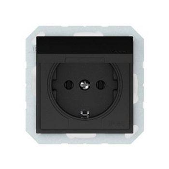 Pistikupesa QR maandusega raamita must IP44