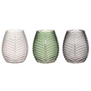 Lillevaas klaasist Frost 18cm roheline