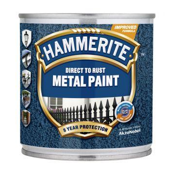 Metallivärv Hammerite Hammered, vasardatud pind, 250ml, tumesinine