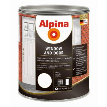Akna- ja uksevärv Alpina WINDOW AND DOOR 0,75 l 4001244706983