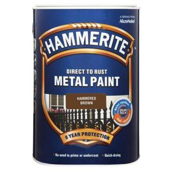 Metallivärv Hammerite Hammered, vasardatud pind, 750ml, pruun