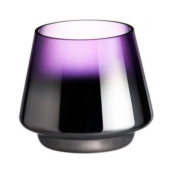 Küünlatops klaasist Drama 10x9cm lilla 6410413197763
