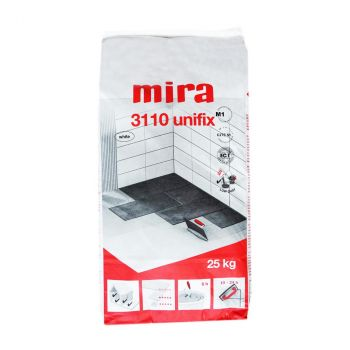 Plaatimissegu mira 3110 unifix (C2TE S1) 25 kg