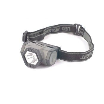 Pealamp 3W Tiross CREE LED + 2 punane LED 130lm TS-1192