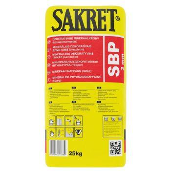 Dekoratiivkrohv Sakret SBP 2mm valge 25kg