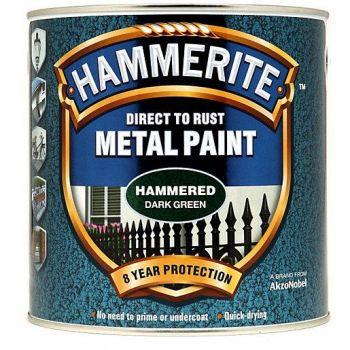 Metallivärv Hammerite Hammered, vasardatud pind, 750ml, tumeroheline