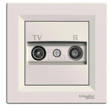 Asfora antenni pesa TV/R läbiv 4db kreem