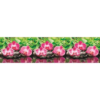 Köögitagaseina dekoratiivplaat 370 roosa orhidee 4680439011370