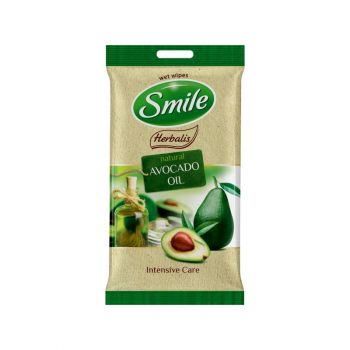 Niisked salvrätikud Smile Herbalis avokaado/makadaamia/oliiviõli 10tk  4744246019018