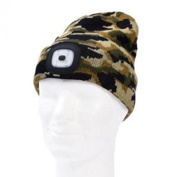 Müts LED-valgustusega 4SMD-LED 1W USB-laetav, CAMO 6438152098172